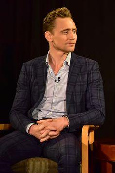 Tom Hiddleston attends TimesTalks Presents: 'The Night Manager' on April 11, 2016 in New York City. Full size image: http://ww2.sinaimg.cn/large/6e14d388gw1f2tnucjnhmj22bc1jle5t.jpg Source: Torrilla, Weibo