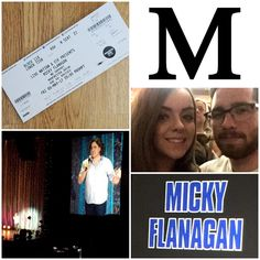 M is for Micky Flanagan! Looooved every second watching this comical genius! Laughed all night long with my favourite human! 😂😍💕 #AlphabetDating #AlphabetDates
