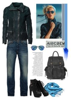 """aircrew only"" by crisp ❤ liked on Polyvore featuring moda, Levi's, Matthew Williamson, Giorgio Brato, Burke Decor, Anja, Topshop y NARS Cosmetics"