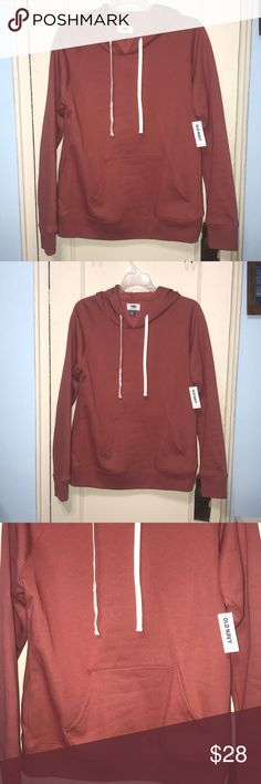 🆕 Old Navy Reddish Hoodie Sweatshirt M can fit S 🆕 Old Navy light Reddish hoodie sweatshirt . It is fitted the sweatshirt more in my opinion. I went up in size in it from small to medium .  Measurements listed below .  25 in length  Arm to arm flat 20 inches  Made in Cambodia Old Navy Tops Sweatshirts & Hoodies