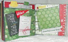School Days 6x6 Mini Album by InStyleScrapbooks on Etsy