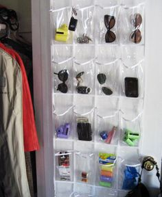 plastic shoe holder for entry closet, so cheap perfect for odds ends that collect on the kitchen table Plastic Organizer, Door Shoe Organizer, Shoe Holder For Closet, Entry Closet, Hall Closet, Door Entry, Room Closet, Project Place, Shoe Holders