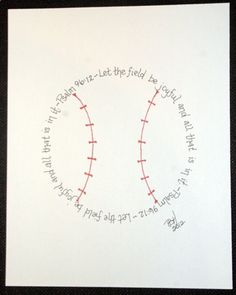 Baseball Psalm 96:12 for boys who love baseball....could work for any sport really