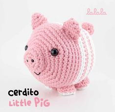 Little Pigs, Piggy Bank, Lana, Crochet Hats, Blandito, Sewing, Club, Graph Crochet, Graphic Patterns