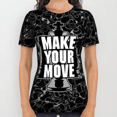 Make Your Move Chess All Over Print Shirt