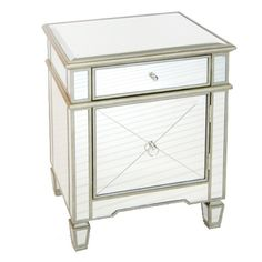 Claudette Silver Nightstand. Project Décor