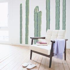 Adhesive Desert Cacti   Wall Decals   WallsNeedLove