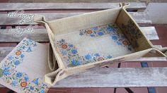 Decoupage fácil para principiantes - Decoupage en tela de saco o arpillera