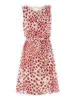 Rasberry dress; pretty!