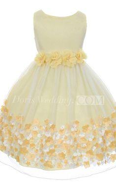 Sleeveless A-line Dress With Flroal Hemline