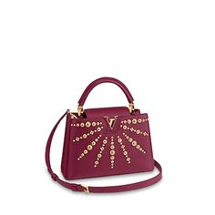Products by Louis Vuitton: Capucines BB Louis Vuitton Store, Louis Vuitton Alma, Louis Vuitton Handbags, Studded Bag, Brand Collection, Jute Bags, Luxury Bags, Calf Leather, Shoulder Bag