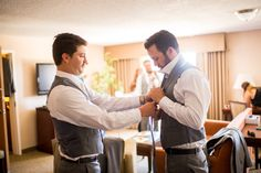 Groom and groomsmen getting ready for the ceremony. San Luis Obispo, CA wedding. PC: Jonathan Roberts of Blue Photo.