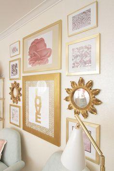 Weekend Pinspiration 2: Aqua and Gold Guest Room