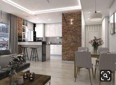 The Best 2019 Interior Design Trends - Interior Design Ideas Condo Living, Small Living Rooms, Home Living Room, Apartment Living, Kitchen Room Design, Dining Room Design, Home Decor Kitchen, Brick Interior, Modern Home Interior Design