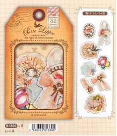 Japanese Qlia Seal Flakes Foiled Tracking Paper - Poste Lippee Lace