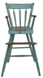Blue antique high chair
