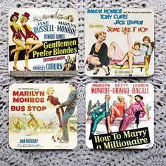 Gentlemen Prefer Blondes  Marilyn Monroe Mousepad by Polkadotdog, $12.50