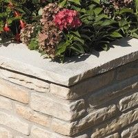 Bradstone Natural Sandstone Walling Fossil Buff coping stones Edging 450 x 160 x 40 Individual Unit