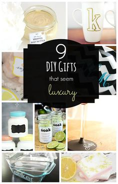 DIY luxury Christmas gift ideas - Round up of 9 awesome bloggers' tutorials to make gifts that seem luxury - Brooke Sandra Blog