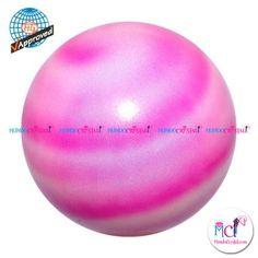 #Pelota de Gimnasia #Rítmica Pastorelli  planet-rosa-fluor,-magenta-y-blanco