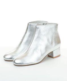 Silver Mod Pod Bootie