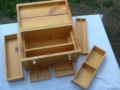 Wooden Handmade Gun Cleaning Supply Storage Box New Sturdy Quality Woodcraft
