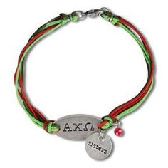 Alpha Chi Omega Sisters Bracelet. One size fits most. #AlphaChiOmega #ACHIO #axo #ΑΧΩ