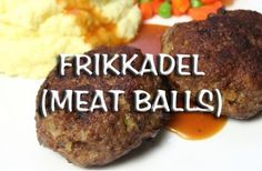 Frikkadel is a traditional Afrikaner dish comprising usually baked, but sometimes deep-fried, meatballs prepared with onion, bread, eggs, vinegar and spices.