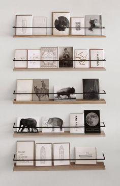 DIY shelves metal & wood                                                                                                                                                     More