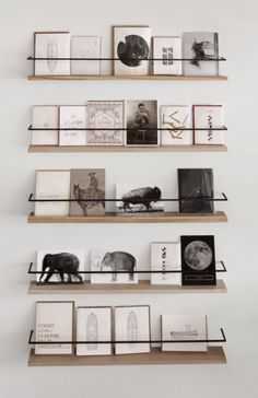 DIY shelves metal & wood