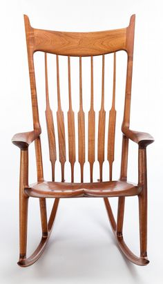 Buy online, view images and see past prices for SAM MALOOF (American, Rocker (No. Invaluable is the world's largest marketplace for art, antiques, and collectibles. Wood Crafts Furniture, Art Deco Furniture, Furniture Ideas, Wooden Rocking Chairs, Wood Chairs, Sam Maloof, Farmhouse Dining Chairs, Antique Chairs, Plate Design