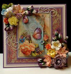 TPHH cheryl Mothers Day Purple Card Matching Gift Box Mulberry Premade Stitched