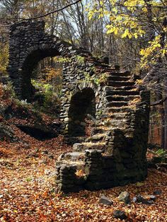Next time you're in New Hampshire check out these stairs - Ruins - at Madame Sherri's Castle Ruins, W. Chesterfield, New Hampshire Abandoned Buildings, Abandoned Places, Abandoned Castles, Haunted Places, Abandoned Mansions, City Buildings, Stairway To Heaven, New Hampshire, Belle Photo