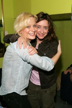 Amy Poehler and Rachel Dratch Upright Citizens Brigade Theatre and Young Friends of Gilda's Club My Celebrity Look Alike, Upright Citizens Brigade, Amy Poehler, Tina Fey, The Thing Is, Woman Crush, Other People, Theatre, Crushes
