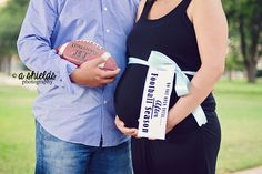 Football Maternity  | Do not open until | Football Session | Maternity Session | Canyon TX  | Photo by A Shields Photography