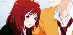 Romantic Anime Couples, Cute Anime Couples, Ao Haru Ride Kou, Mabuchi Kou, Howl And Sophie, Blue Springs Ride, Anime Gifts, Anime People, Gifs