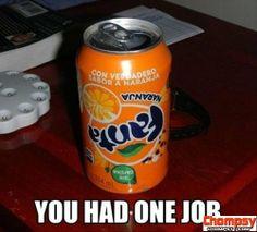 You had one job!Only one job One Job Meme, Job Memes, Humor 1, Job Humor, Ecards Humor, Nurse Humor, Funny Fails, Funny Memes, Gifs Hilarious