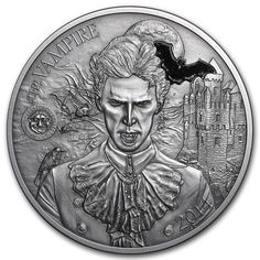 Happy Halloween 1 oz Silver Antiqued Finish Round 2016 Nightmares Of The Fall