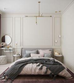 Divatos rózsaszín, szürke, zöld, arany, réz színárnyalatok egy 77m2-es háromszobás lakásban - gyerekszobával