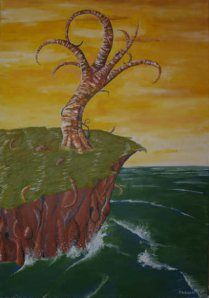 Tree at the sea, 2006  acrylic on canvas, 70 x 50 cm  in private hands  www.michaelehrhardt.de