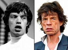ROCK STARS: THEN AND NOW! Mick Jagger