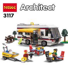 DECOOL 3117 City Creator 3 in 1 Vacation Getaways Figure Blocks Construction Building Bricks Toys For Children Compatible Legoe
