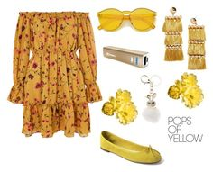 """""""Coachella Outfit"""" by cheapchicceleb ❤ liked on Polyvore featuring Glamorous, Gap, Charlotte Russe, Samsung, BaubleBar, musicfestival, PopsOfYellow and NYFWYellow"""
