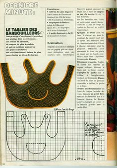 Le tablier des barbouilleurs - Le blog des Centidéalistes Baby Sewing Projects, Sewing For Kids, Sewing Hacks, Sewing Tutorials, Vintage Patterns, Vintage Sewing, Doll Clothes Patterns, Sewing Patterns, Cotton Frocks For Kids