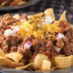 Gooseberry Patch Recipes: Famous Corn Chip Pie. Love this hearty dish with crunchy corn chips topped with meat, cheese and  jalapeño peppers.