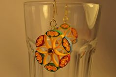 Multicolor Floral Quilling Earrings Free Shipping by thoughtwork