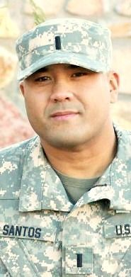 Army 1LT. Timothy G. Santos Jr., 29, of Helena, Alabama. Died August 18, 2013, serving during Operation Enduring Freedom. Assigned to 4th Battalion, 501st Aviation Regiment, 1st Armored Division, Fort Bliss, Texas. Died at William Beaumont Army Medical Center, Fort Bliss, Texas, from a non-combat related illness diagnosed on March 24, in Kuwait City, Kuwait. According to news reports, LT. Santos, an Apache helicopter pilot, died of complications from pancreatic cancer.