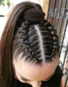 Unique & Latest Style of Braids HairYou can find Braided hairstyles and more on our website.Unique & Latest Style of Braids Hair Sporty Hairstyles, Cool Braid Hairstyles, Easy Hairstyles For Long Hair, Baddie Hairstyles, Braids For Long Hair, Pretty Hairstyles, Girl Hairstyles, Braids Into Ponytail, Braids For Girls