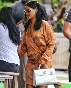 The one and only Rihanna spotted in Miami last week carrying our new silver metallic 'Diorever' bag. #Diorever by dior