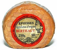Epoisses cheese (Epoisses de Burgundy) is a French cow's milk cheese washed with Marc de Bourgogne, which imparts a robust fruity flavor, Charcuterie, David Lebovitz, French Cheese, Milk And Cheese, Gouda, Cheese Recipes, No Cook Meals, Street Food, Cheese